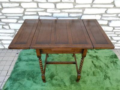 英国アンティーク ツイストドローリーフテーブル 伸縮テーブル