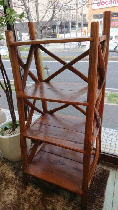古木 シェルフ 飾り棚