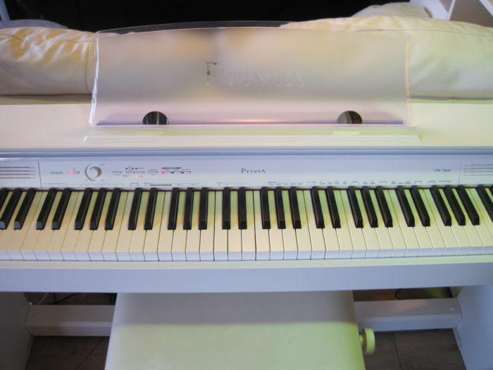 """CASIO(カシオ) 電子ピアノ(PX-760) """"Privia"""" ホワイト"""