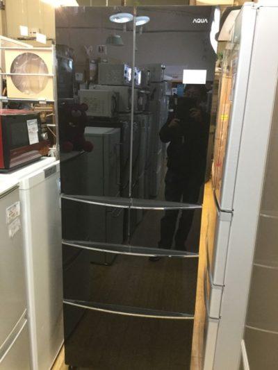 冷蔵庫 ガラストップ 黒 AQUA