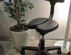 ayur-chair(アーユルチェアー) 姿勢矯正チェア(01) 腰痛改善 キャスター付 ブラック