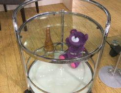 丸 ワゴン サイドテーブル ワイン ボトル
