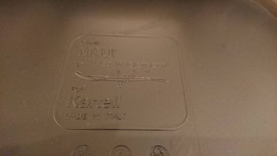 kartell mauichair カルテル マウイ 2人掛け ガラステーブル