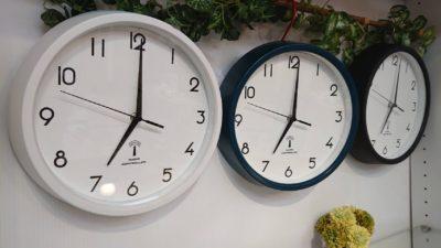 壁掛け用 時計 電波時計 自動