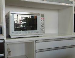 松田家具 レンジボード キッチンボード 食器棚 レンジ台 ロータイプ 低め