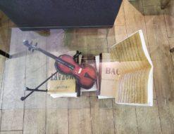 バイオリンのセンターテーブル ディスプレイ サイドテーブル