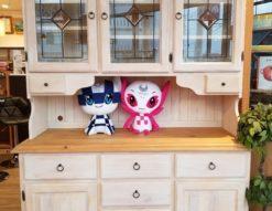 フレンチカントリー パイン材 カップボード 食器棚 キャビネット