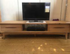 unico テレビボード SIGNE W1600 オーク材 ナチュラル 北欧 TVボード AVボード テレビ台