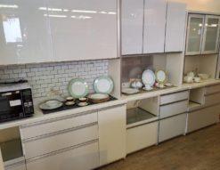 Pamouna パモウナ レンジボード 食器棚 サイズ豊富 色々 ホワイトカラー 鏡面仕上げ