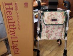 象印ベビー ヘルシーワン・ライト カラフル 花柄ピンク シルバーカー 室外用歩行車