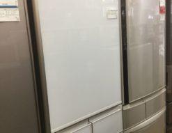 日立 HITACHI 2018年製 R-S4000HL クリスタルホワイト 401L 自動製氷 ガラストップ 真空チルド 希少 右開き 白