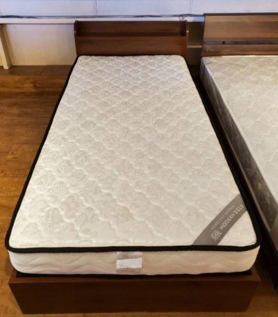 MODERN DECO モダンデコ シングルベッド 収納付き コンセント付き USBポート ブラウン シングル ベッド 未使用品