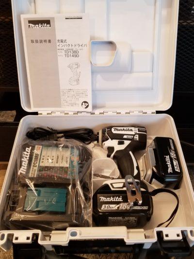 makita 充電式 インパクトドライバー TD149DRFXW ホワイト