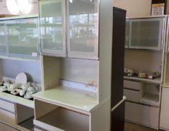 Pamouna パモウナ レンジボード スリムタイプ 収納力抜群 炊飯器スペース 広い 食器棚 レンジ台 天井まで