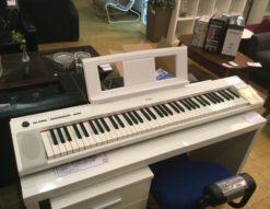 YAMAHA(ヤマハ)piaggero 電子キーボード ホワイト NP-32WH買い取りました 静かな打鍵音 リアルなピアノ音 76鍵盤 録音可 メトロノーム内蔵 内蔵音多数 シンプルデザイン