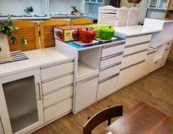 キッチン 収納 カウンター レンジボード レンジカウンター 鏡面仕上げ ステンレストップ