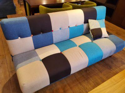 ソファベッド パッチワーク ブルー マリン パッチワークソファ ベッド かわいい おしゃれ