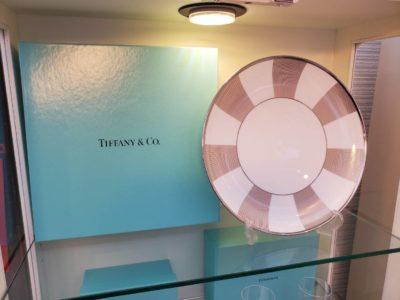TIFFANY&Co. ティファニー TIFFANY ブランド食器 プレート 大皿 PALLADIUM パラジウム 未使用 箱入り 箱あり
