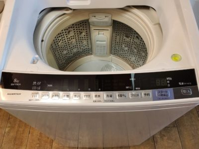 hitachi 日立 beat wash ビートウオッシュ 8キロ 全自動洗濯機 2017年 洗濯機