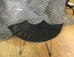 ハリー・ベルトイア ダイアモンドチェア リプロダクト品 ブラック 入荷しました デザイナーズ家具 北欧風 ミッドセンチュリーモダン 合皮 スチール