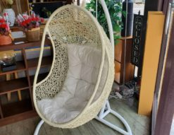 ハンギングチェア モデルルーム展示品 ゆりかごチェア パーソナルチェア イス 寝具 吊りイス リゾート風