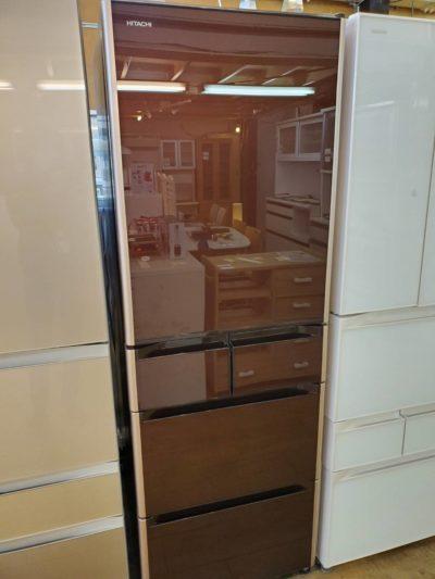 HITACHI 日立 501L 5ドア冷蔵庫 2017年製 真空チルド 大容量 冷凍冷蔵庫 ブラウン