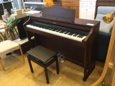 Roland ローランド 2012年製 電子ピアノ HP-505-GP ウォールナット調仕上げ アコースティック・プロジェクション 省エネ 省スペースデザイン 内蔵曲多数 6.3mm端子 再良市場 名古屋南店 中古ピアノ