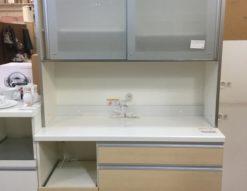パモウナ レンジボード キッチン家具 サイレントレーン ワイドビュー ダイアモンド ハイグロス シンプル 食器棚 キッチン収納
