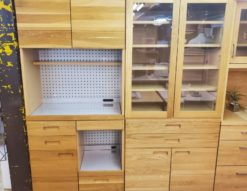 unico ウニコ HUTTE ヒュッテ シリーズ レンジボード キッチンボード 食器棚 カップボード ナチュラル 北欧 セット 同じシリーズ 2点セット おしゃれ