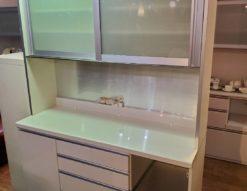 レンジボード 食器棚 壁面収納 キッチンボード ニトリ 幅1600 160㎝ 大型 収納棚 キッチン収納 ホワイト 白 モダン キレイ
