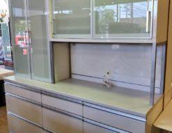 AYANO 綾野製作所 レンジボード 食器棚 2点セット キッチンボード 大型 大きい 大容量 食器収納 壁面収納 キッチン収納 モイス ソフトクローズ ブルーモーション