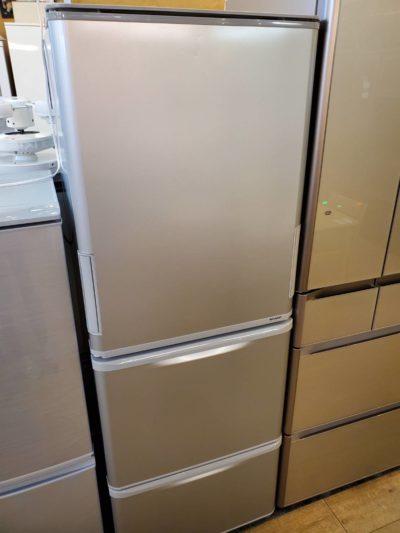 SHARP シャープ 350L 3ドア 冷蔵庫 2019年製 高年式 どっちもドア シルバー 中型 2人用 3人用 1人用 一人暮らし