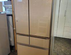 HITACHI 日立 475L 6ドア冷蔵庫 2015年製 真空チルド 大型 冷凍冷蔵庫 クリスタルシャンパン ガラストップ フレンチドア 両開き