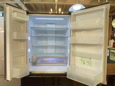 panasonic パナソニック 大容量 冷蔵庫 550L 大型 スリム コンパクト 収納 チルド nr-f553hpx brown ブラウン マチュアブラウン