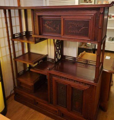 茶箪笥 茶棚 飾り棚 サイドボード 昭和 レトロ 棚 木製 和室 昔ながら おばあちゃんの家