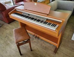 YAMAHA ヤマハ 電子ピアノ Clavinova クラビノーバ デジタルピアノ 2003年製 椅子付き チェリー調 明るいブラウン 高級
