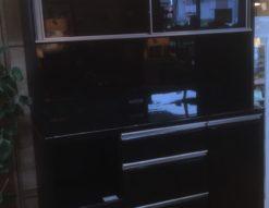 レンジボード 食器棚 キッチン家具 ブラック モイス 消臭