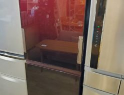 SHARP シャープ 356L 3ドア 冷蔵庫 2019年製 プラズマクラスター どちもドア ガラスドア グラデーションレッド カッコいい オシャレ スタイリッシュ キレイ