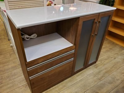 CRAFT KOGA クラフトコガ キッチンカウンター 食器棚 キッチン収納 ウォールナットカラー かっこいい おしゃれ 間仕切り