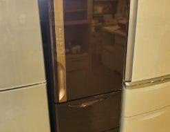 HITACHI 日立 315L 3ドア 右開き 冷蔵庫 中型 2人用 3人用 1人用 単身用 ブラウン 2019年製 高年式 新しい 中古