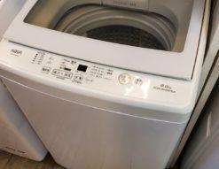 AQUA アクア 9.0㎏ 洗濯機 大容量 大型 ガラストップ 2018年製 高年式 キレイ 中が見える スタイリッシュ オシャレ 洗濯
