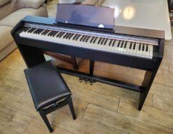 CASIO カシオ Privia プリヴィア 電子ピアノ デジタルピアノ チェア付き イス付き 椅子付き スタンド一体型 べダル一体型 ブラック 黒 スリムタイプ