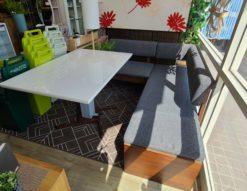 シギヤマ家具 JUST / ジャスト SOCIAL / ソシアル コーナーソファダイニングセット 昇降式テーブル