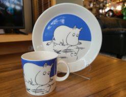 ARABIA FINLAND / アラビアフィンランド Moomintroll on ice / ムーミントロールオンアイス マグカップ プレート