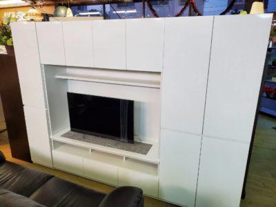 リビングボード 壁面収納 大容量 収納棚 リビング収納 テレビボード キャビネット セット 大型テレビボード 壁一面 収納 ホワイト 鏡面 光沢 ツルっとした 白 テレビの上 収納 デッドスペース リビング周り