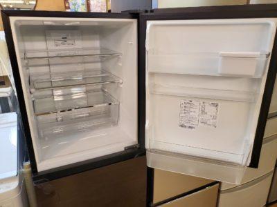 HISENSE ハイセンス 3ドア冷蔵庫 282L冷蔵庫 冷凍冷蔵庫 野菜室真ん中 中段野菜室 ガラスドア 強化ガラス ブラウンカラー おしゃれ かっこいい モダン キッチン