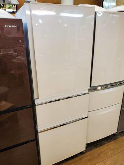 MITSUBISHI 三菱 330L 3ドア 冷蔵庫 2019年製 高年式 新しい 冷凍冷蔵庫 氷点下ストッカー ワイドチルド ホワイト 中型冷蔵庫 単身用 2人用 3人用 2~3人用 オススメ