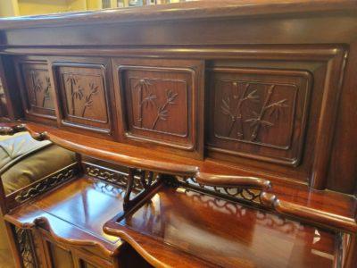 和風家具 茶たんす 飾り棚 コレクションボード リビングボード 和棚 昔懐かしい 急須 湯呑み 収納棚 飾る棚