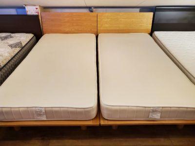 MUJI 無印良品 シングルベッド シングルサイズ ナチュラル 北欧 シンプル 床下 20㎝ ベッド下 収納可能 同型2台 2本 2台 同じもの
