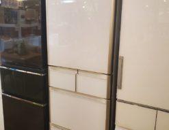 HITACHI 日立 401L 5ドア 冷蔵庫 2018年製 高年式 ガラストップ 真空チルド スリープ野菜室 左開き Sシリーズ クリスタルドア ホワイト 401L冷蔵庫 5ドア冷蔵庫 大型冷蔵庫 大容量 400L 350L 450L 冷凍冷蔵庫